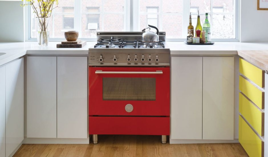 Beautiful red oven